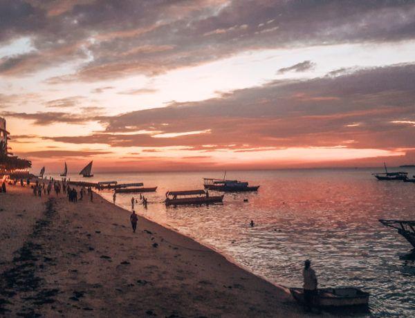 Stone Town Sansibar Sonnenuntergang