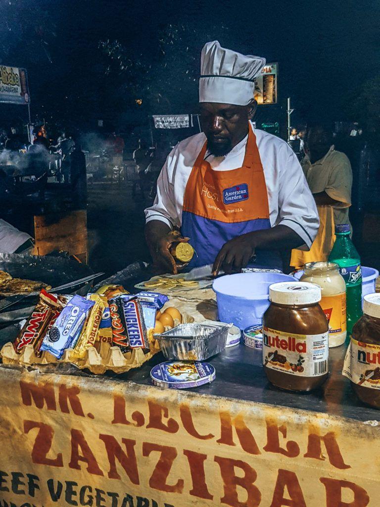Stone Town Sansibar Nachtmarkt
