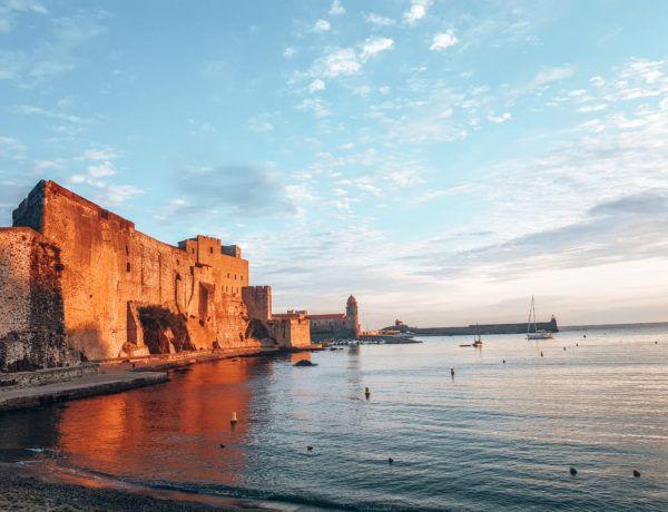 Collioure am Meer in Südfrankreich