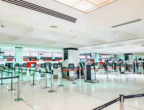 Abbruch einer Weltreise: der leere Flughafen von Sydney